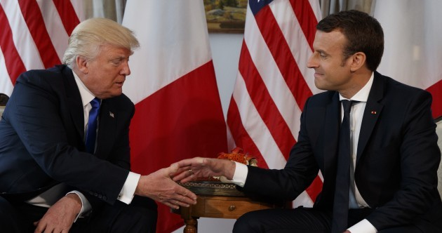 Emmanuel Macron: White-knuckle handshake with Trump 'was not innocent'