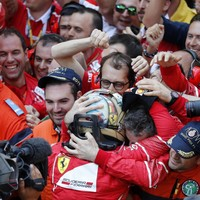Vettel secures memorable one-two for Ferrari to extend lead over Hamilton