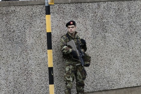 Stock photo of member of Defence Forces called out to deal with an incident in south Dublin last year.