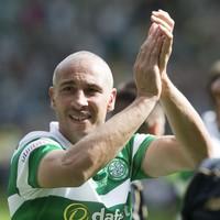 Henrik Larsson returns to Celtic Park and scores a first-half hat-trick