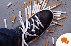 Column: '8 per cent of young people aged 10 to 17 smoke cigarettes'