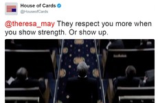 The House of Cards Twitter account burned Theresa May for not turning up to the UK leaders' debate