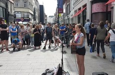 A spellbinding performance by an 11-year-old Cork girl on Grafton Street is taking over Facebook