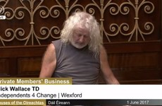 So, Mick Wallace straight up wore a vest to the Dáil today and it can't be unseen
