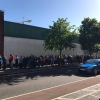 A doughnut shop in Cork offered boxes of free doughnuts this morning and the queue was batsh*t insane