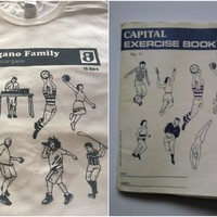 This Irish band's excellent merch is inspired by those retro Capital copybooks