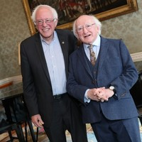 Bernie Sanders brought his 'resistance' message to Dublin (after stopping by the Áras)