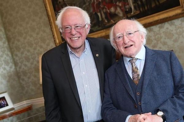 Michael D Higgins met Bernie Sanders yesterday, and everyone