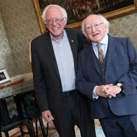 Michael D Higgins met Bernie Sanders yesterday, and everyone wants them to be best mates