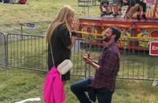 This lovely photo of a proposal at Forbidden Fruit has taken over Facebook