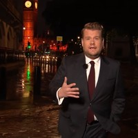 James Corden walked near London Bridge and delivered this emotional opening monologue last night