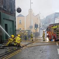 Firefighters battle blaze at derelict pub in Balbriggan