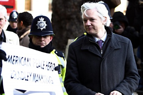WikiLeaks founder Julian Assange arrives at the Supreme Court to block his extradition to Sweden where he faces sex crime allegations