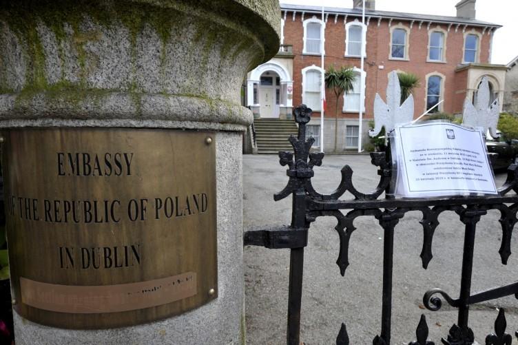 The Polish embassy in Dublin