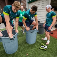 In pictures: Ireland hit the ice baths after training as temperatures hit 30 degrees in New York