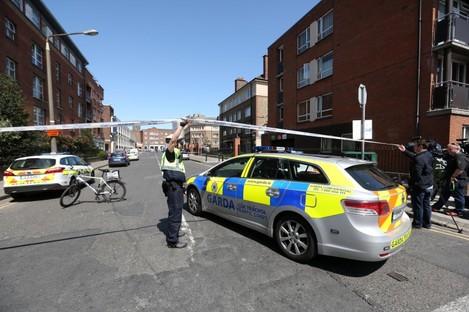 The scene of Gareth Hutch's murder.