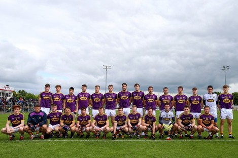 The Wexford squad before their clash with Carlow.