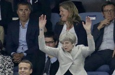 Theresa May did the Mexican Wave at the football, AKA the new naughtiest thing she's ever done