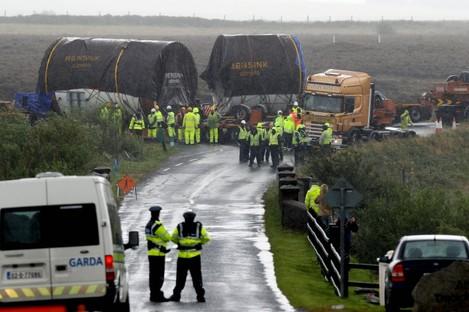 Tunnel boring machinery near the Corrib Gas Pipeline.