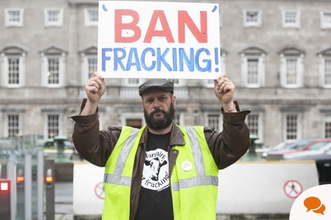 Anti Fracking Protester Andy Dunn from Leitrim. 2015. Photo:Leah Farrell/ RollingNews.ie