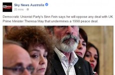 Sky News Australia thought that Sinn Fein was (a) a man and (b) a member of the DUP