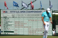 Casey battles his way level with Fowler as McIlroy misses cut at US Open