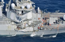 Seven US sailors missing after destroyer rammed by cargo ship