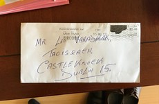 An Post delivered a letter to Leo Varadkar that had 'Taoiseach, Castleknock' as the address