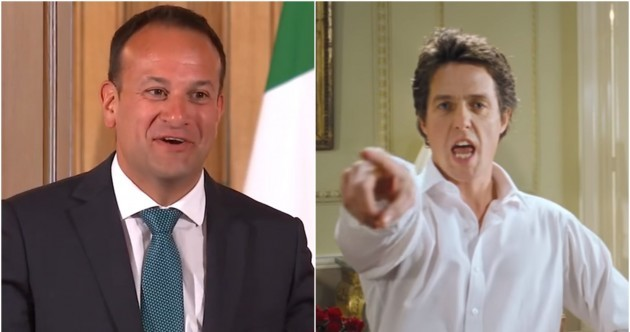 Leo Varadkar on visiting 10 Downing St: 'I was reminded of that famous scene in Love Actually'