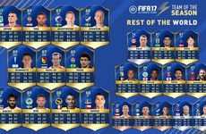 LOI star named in Fifa 17's 'Rest of the World' Team of the Season