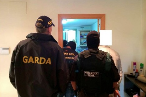Gardaí, UK police and the Guardia Civil in Spain are all working together.