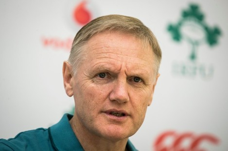 Joe Schmidt at yesterday's press conference in Tokyo.