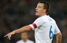 Terry could abandon England set-up