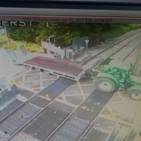 Tractor ploughing through level crossing in Kildare causes major delays for commuters