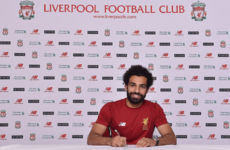 Done deal: Liverpool sign former Chelsea winger Salah for €39m