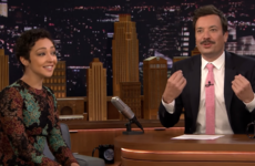 Ruth Negga said Jimmy Fallon's moustache makes him look like an 'Irish politician from the 80s'