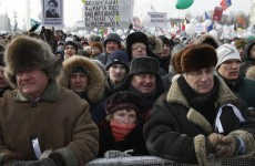 In pictures: Thousands turn out for anti-Putin protest in Moscow