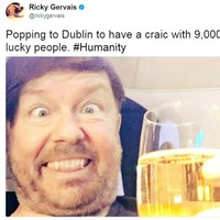 Ricky Gervais used the word 'craic' incorrectly on Twitter and Irish people were quick to correct him