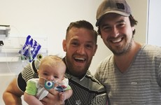 These photos of Conor McGregor visiting kids in Crumlin Children's Hospital are class