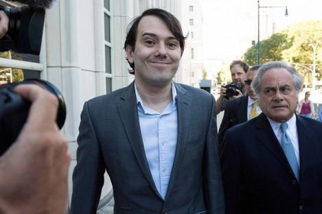 Martin Shkreli arriving at Federal Court in Brooklyn with his lawyer Benjamin Brafman.