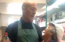 This butcher in Derry has the most lovely relationship with one of his elderly customers