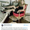 The Scottish Tory leader posted a risqué photo of Gillian Anderson as her out-of-office message