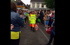 A school in Lucan bid farewell to their lollipop lady in the most lovely way possible