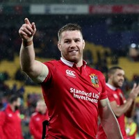 Sean O'Brien cited for a swinging arm against the All Blacks