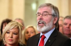 Gerry Adams asks UK to not restore direct rule from Westminster in North