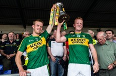 Great scenes as Fionn Fitzgerald recovers from nasty clash to lift Munster cup for Kerry