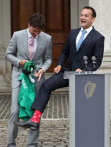 Socks, drums and GAA: Government goes 'Full Riverdance' for Trudeau visit