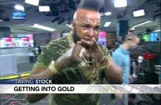 Mr T pities the fool who don't invest in gold