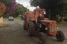 This stag party in Monaghan hired a tractor to drive them around for a pub crawl