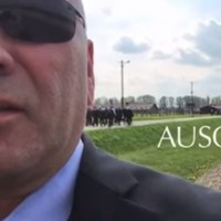 US congressman under fire for filming video message inside Auschwitz Memorial